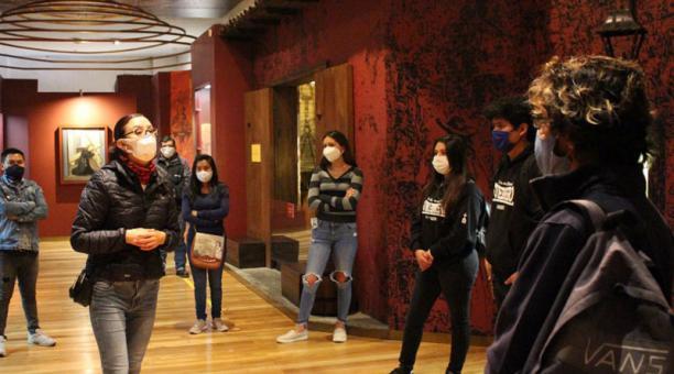 Las visitas presenciales a los museos de Quito se pueden realizar previo una reserva. Foto: cortesía.