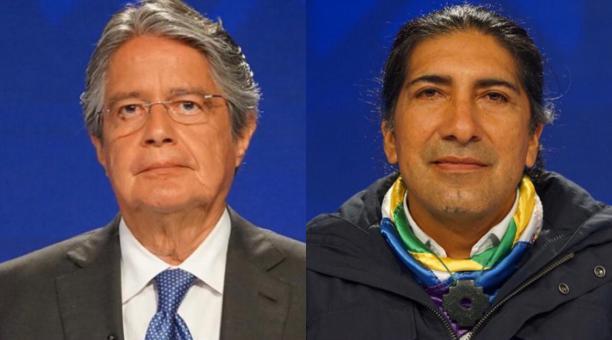 Los candidatos presidenciales Guillermo Lasso (Creo-PSC) y Yaku Pérez (Pachakutik) discrepan en redes por el acuerdo de recuento de actas al que llegaron el 12 de febrero del 2021 en el CNE. Fotos: Flickr CNE