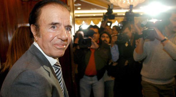 El expresidente de Argentina Carlos Menem falleció el 14 de febrero del 2021. Foto: EFE
