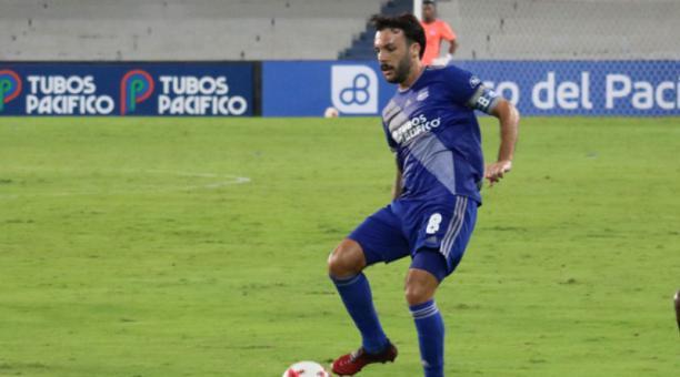 Sebastián Rodríguez, jugador del Club Sport Emelec. Foto de la cuenta Twitter @CSEmelec