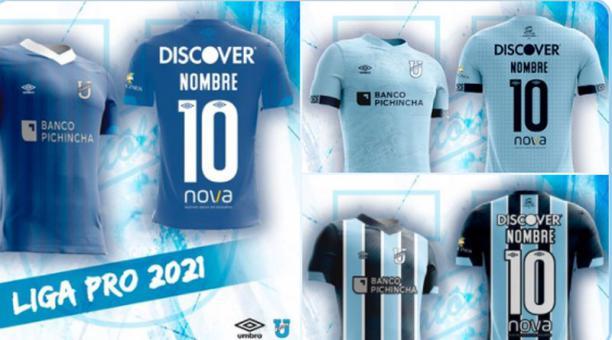 Universidad Católica presentó los nuevos diseños de uniformes para la temporada 2021. Foto: @UCatolicaEC