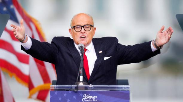 El abogado de Donald Trump. Rudy Giuliani, no representa al expresidente de EE.UU. en ninguna causa, dijo un asesor del republicano a CNN. Foto: REUTERS.
