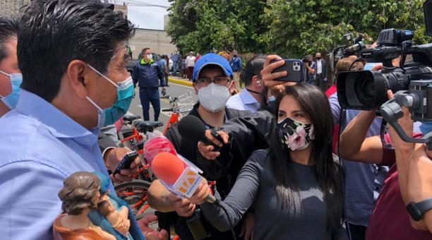 El alcalde de Quito, Jorge Yunda, habló el 17 de febrero del 2021 sobre el proceso de investigación que la Fiscalía lleva en su contra por la adquisición de pruebas PCR. Foto: EL COMERCIO