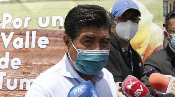 El alcalde de Quito, Jorge Yunda, dijo que no permitirá la violencia en la ciudad tras el anuncio de una movilización nacional para pedir que se vuelvan a contar los votos. Foto: Eduardo Terán/ EL COMERCIO.