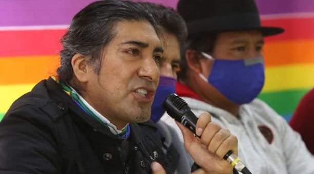El candidato presidencial de Pachakutik, Yaku Pérez, ofreció disculpas por declaraciones ante la negativa del CNE para el recuento de votos. Foto: Vicente Costales/ EL COMERCIO