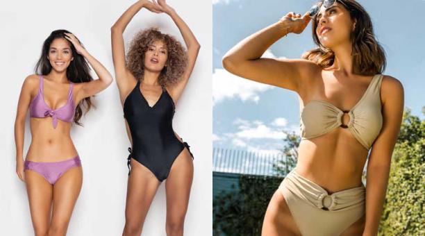 Los pantis a la cintura y de corte alto en pierna son cada vez más comunes en el mundo del 'swimwear'. Fotos: cortesía De Prati y Amor de verano