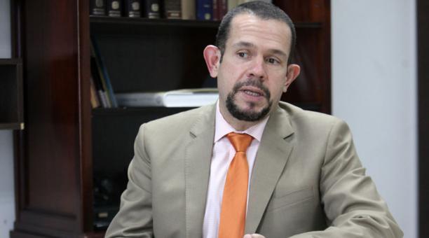 Entrevista Juan Pablo Albán, abogado del alcalde de Quito Jorge Yunda. Foto: Julio Estrella / EL COMERCIO