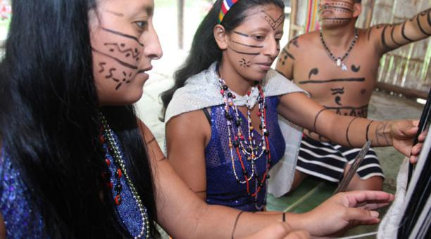 En el Ecuador, el el tsafiqui es el idioma propio de la nacionalidad Tsáchila. Foto: Archivo/ EL COMERCIO