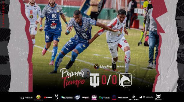 Técnico Universitario y Delfín se enfrentaron este domingo 21 de febrero por la primera fecha de la LigaPro. Foto: Twitter de Técnico Universitario