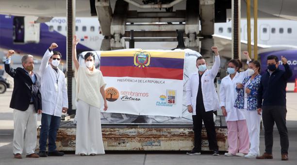 El primer cargamento de vacunas llegó el miércoles 20 de enero del 2021, con 8 190 dosis.