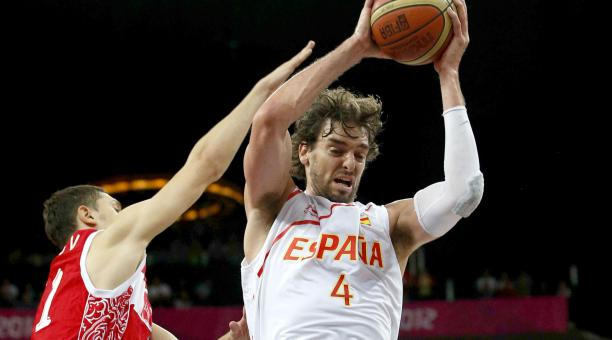 Pau Gasol, en un partido con la selección española de baloncesto. Foto: Archivo EFE
