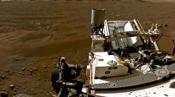 Porción de un panorama compuesto por imágenes individuales que muestran superficie marciana. Imágenes tomadas el 20 febrero 2021. Foto: REUTERS
