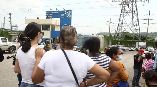 El presidente Lenín Moreno se pronunció este 24 de febrero del 2021 tras los amotinamientos registrados el martes 23 de febrero en las cárceles del país. Foto: Enrique Pesantes/ EL COMERCIO.