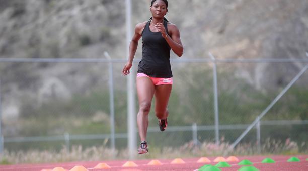 Marisol Landázuri se entrena en Quito. La atleta piensa en llegar a Tokio 2021. Foto: Archivo El Comercio