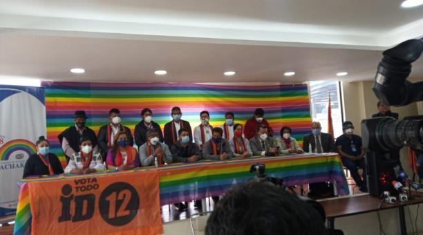 El anuncio se dio en una rueda de prensa conjunta en la sede del movimiento indígena