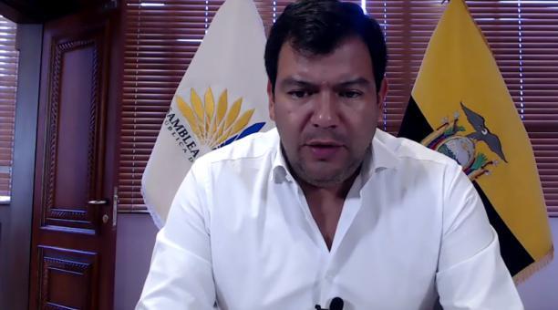 La convocatoria la hizo este jueves 25 de febrero de 2021 el titular de la Legislatura, César Litardo. Foto: Twitter / Asamblea Nacional