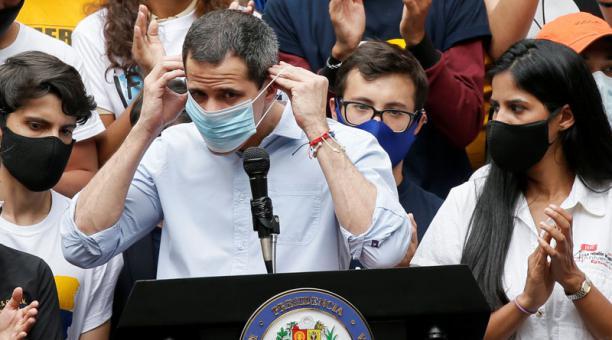 Juan Guaidó condenó la detención del diputado opositor Gilberto Sofo, del partido Voluntad Popular en Venezuela. Foto: Reuters