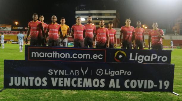 Deportivo Cuenca consiguió su primera victoria del 2021, ante Guayaquil City. Foto: Twitter Dep. Cuenca