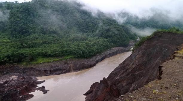 Una imagen del represamiento del Río Coca, en el oriente de Ecuador. Foto: Cortesía