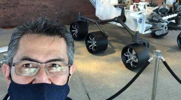 Jorge Alejandro Moreno es oriundo de Colombia. Siguió el bachillerato por radio y ahora trabaja en misiones espaciales de la NASA. Foto: Cortesía Jorge Alejandro Moreno/ Diario EL TIEMPO de Colombia.
