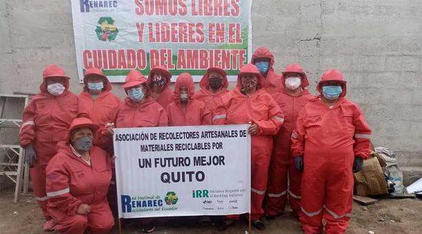 Con la llegada de la pandemia, los recicladores tuvieron que detener sus actividades durante más de cuatro meses. Foto: cortesía Renarec