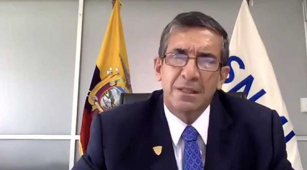 El director del sistema penitenciario, Edmundo Moncayo, compareció este 1 de marzo del 2021 en la Asamblea. Foto: Twitter Asamblea