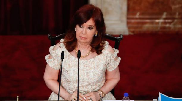 La vicepresidenta de Argentina, Cristina Fernández, dijo este 4 de marzo del 2021 que es perseguida judicial. Foto: EFE.