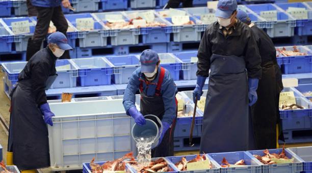 Los mariscos de Fukushima son sometidos a estrictos controles de radiactividad tras el accidente nuclear, pero aún existe desconfianza en los productos. Foto: EFE.