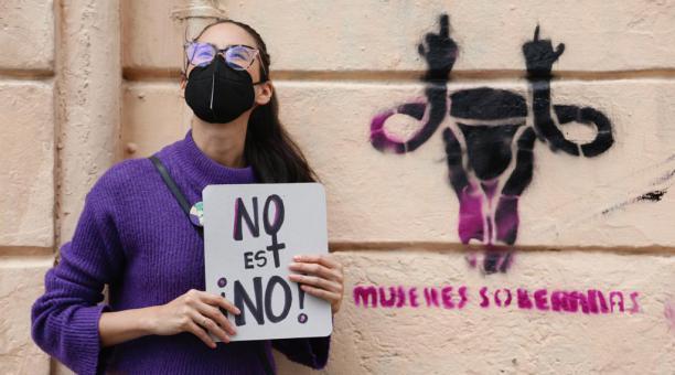 Mujeres recorrieron Quito para exigir por sus derechos este 7 de marzo del 2021.