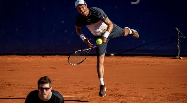 Gonzalo Escobar (der.) y Ariel Behar en el ATP 250 de Buenos Aires. Foto: cortesía Argentina Open