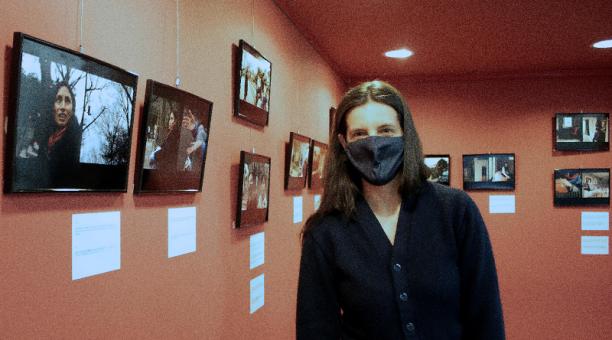 La fotoperiodista Elizabeth Coll es la autora de la exposición 'Mujeres en Japón'. Foto: EFE
