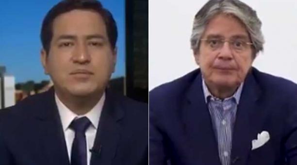 Las propuestas de los candidatos Andrés Arauz y Guillermo Lasso se centran en la recuperación de las fuentes de trabajo. Fotos: captura