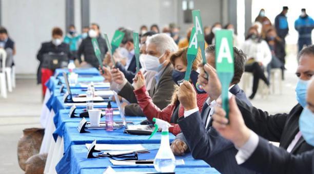 El Concejo Metropolitano sesionó en las instalaciones de la Unidad Educativa Municipal Eugenio Espejo, en Pusuquí (norte de Quito). Foto: Cortesía Municipio de Quito