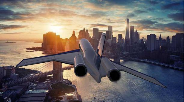 El Spike S-512 permite viajar de un continente a otro en tan solo dos horas. Foto: www.spikeaerospace.com