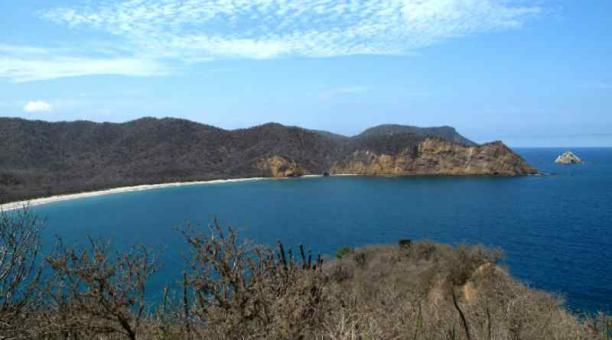 La playa de Los Frailes se encuentra dentro del Parque Nacional Machalilla, en Manabí Foto: areasprotegidas.ambiente.gob.ec