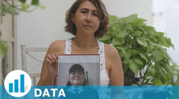 En Guayaquil, Greta Encalada busca el cuerpo de su hermana María Dolores, de 46 años. No ha dado con su rastro. Foto: Enrique Pesantes / EL COMERCIO