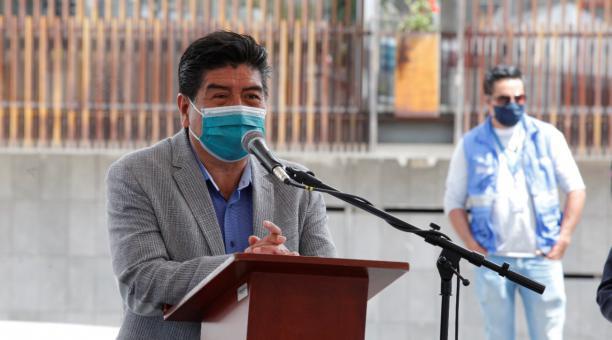 Jorge Yunda estuvo este 11 de marzo del 2021 en la inauguración de obras