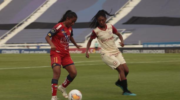 EL Nacional empató en su último juego por la Copa Libertadores femenina 2021. Foto: Copa Libertadores