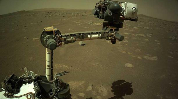El rover Perseverance de la NASA aterrizó en el cráter Jezero de Marte el 18 de febrero de 2021. Foto: EFE / NASA
