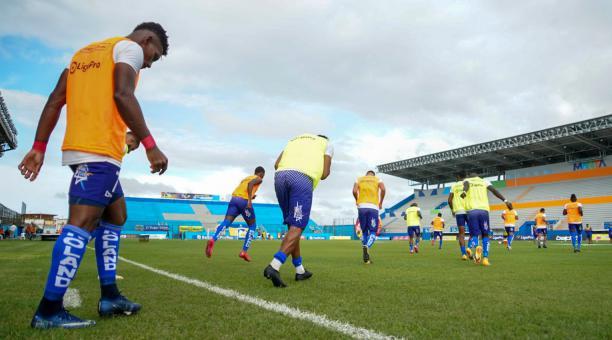 El Delfín recibió a Guayaquil City este sábado 13 de marzo del 2021 en el estadio Jocay. Tomado del Delfín