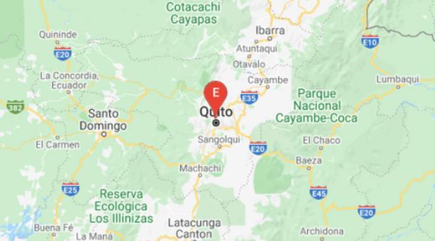 Un sismo de 2.33 grados de magnitud sacudió Quito la mañana de este 14 de marzo de 2021. Foto: Captura