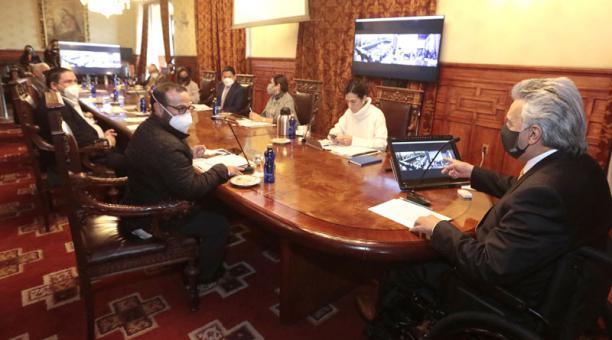 El presidente Lenín Moreno mantuvo una reunión con su gabinete el pasado 9 de marzo del 2021. Foto: Flickr Presidencia