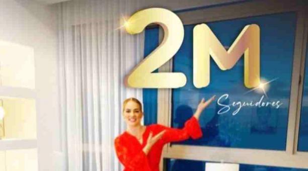 La presentadora de televisión Gabriela Pazmiño celebró ayer -17 de marzo del 2021- los 2 millones de seguidores. Hoy amaneció con 100 000 seguidores menos. Foto: Instagram