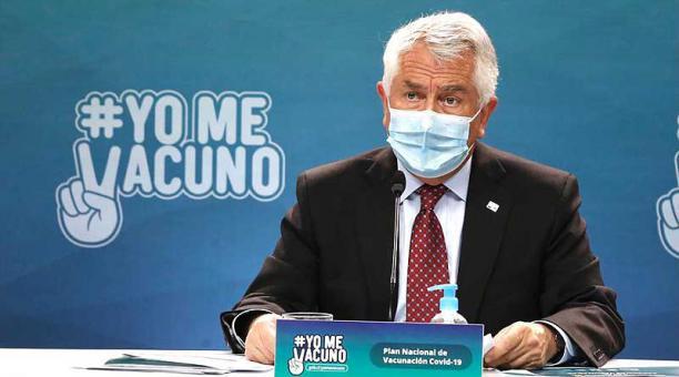 Las razones sanitarias predominan sobre los argumentos económicos, aseguró el ministro chileno de Salud, Enrique Paris. Foto: Twitter Ministerio de Salud de Chile