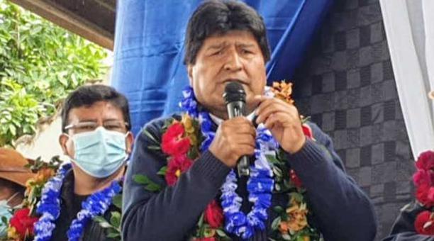 Evo Morales estuvo en la ciudad de Monteagudo en un evento de campaña donde pidió el apoyo para el candidato a gobernador Juan Carlos León. Foto: Twitter Evo Morales