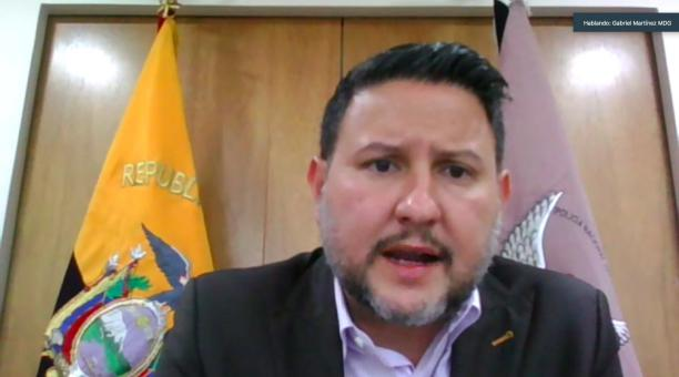 El ministro de Gobierno, Gabriel Martínez, habló ante la Comisión de la Asamblea sobre la masacre de las cárceles en Ecuador. Foto: Twitter Asamblea Nacional
