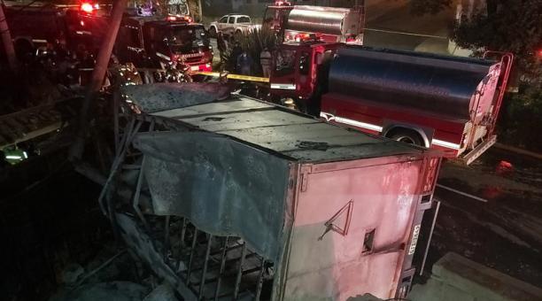 El vehículo presuntamente perdió pista. Las causas del accidente continúan en investigación. Foto: Cortesía