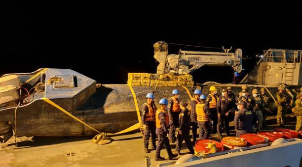 La información de inteligencia militar colombiana permitió que Unidades de la Armada y del Ejército ubicar el semisumergible que se encontraba en su fase final de construcción y al cual ya le habían cargado el alijo de cocaína. En la operación no se repor