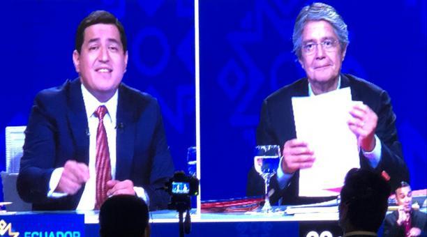 Los candidatos Andrés Arauz y Guillermo Lasso deben hablar de cinco temáticas en el Debate Ecuador Decide 2021. Foto: Enrique Pesantes/ EL COMERCIO