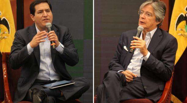 Andrés Arauz (Unes) plantea hacer públicos los contratos del Estado y Guillermo Lasso (Creo) propone crear una comisión internacional en contra de la corrupción